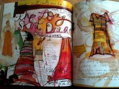 "emelgy: "" Long skirt inspiration from Sabrina Ward Harrison's Brave on the Rocks, her second published art journal. Art Journal Pages, Art Journals, Expressive Art, Sketchbook Inspiration, Medium Art, Amazing Art, Awesome, Mixed Media Art, Altered Art"