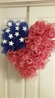 4th of July deco mesh wreath                                                                                                                                                     More