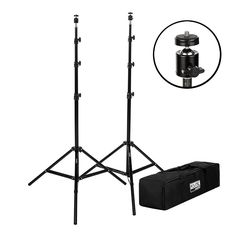 """StudioPRO Set of Two 7'6"""" Photo Video Light Stands w/Ball Head Mount for HTC Vive"""