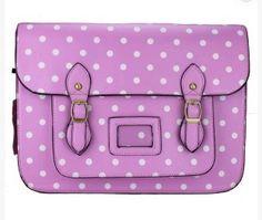 Little Wings Factory - Polka Dot Satchel Bubblegum Pink, £26.00