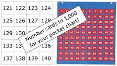 Math Coach's Corner: Pocket Chart Number Cards to 1,000