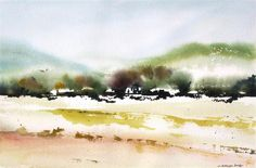 Buy Original Art by Charles Ash | watercolor painting | Summer Highlands at UGallery