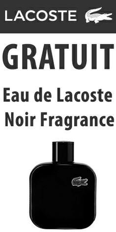 Échantillon de fragrances LACOSTE.é  http://rienquedugratuit.ca/produits-de-beaute/fragrances-lacoste-noir/