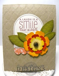 Fun card using Papertrey Ink products of Funky Florals, Happiness in Bloom, Sending You and Moroccan Motifs with Beautiful Blooms #1 die-cuts.