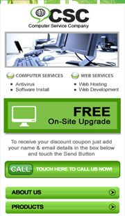 Computer Service / Repairs Mobile Website by Melaka leading Mobile Web Design Company.   Creative Mobile Website.   Tel: +606 2922643. http://CreativeMobileWebsite.com
