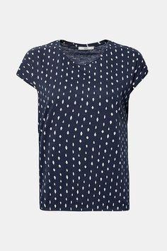 edc - Kuvioitu paita, jossa kuminauhahelma, 100 % puuvillaa - netistä Online Shopista Edc, Polka Dot Top, Tops, Women, Fashion, Moda, Women's, Fashion Styles, Woman
