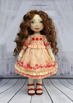 Textile doll decorative doll collector dolls doll cotton