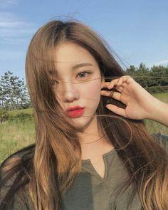 Korean Ulzzang Makeup Inspiration Koreanische Ulzzang Make-up Inspiration Pretty Korean Girls, Korean Beauty Girls, Cute Korean Girl, Beautiful Asian Girls, Asian Beauty, Ulzzang Makeup, Mode Kpop, Girl Korea, Ulzzang Korean Girl