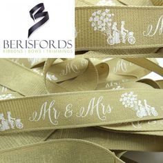 We can provide a large selection of quality Christmas, Wedding, and crafting ribbons from the British Ribbon manufacturer Berisfords. Ribbon Crafts, Ribbon Bows, Ribbons, Natural Weave, Heart Balloons, Mr Mrs, Heart Shapes, Wedding Decorations, Tandem