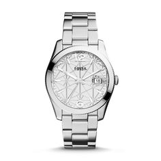 Fossil Special Edition Perfect Boyfriend Three-Hand Date Stainless Steel Watch| FOSSIL® New Arrivals