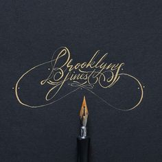 This hand lettering collection is by Ricardo Gonzalez. Ricardo is currently based in Brooklyn, NY and in summer he attended Type where Calligraphy Tattoo, Calligraphy Practice, Calligraphy Alphabet, Typography Letters, Graphic Design Typography, Lettering Design, Caligraphy, Lettering Art, Creative Lettering