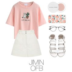 Jimin bts outfit by mazera-kor on Polyvore featuring mode, WithChic, TIBI, Ray-Ban and Herbivore