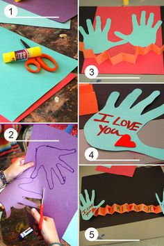 "Expanding Mother's day cards ""I love you...this much!""  Perfect kids craft, with how to step"