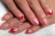 Hear French + hologram gel art! by KiKi_Chicago - Nail Art Gallery nailartgallery.nailsmag.com by Nails Magazine www.nailsmag.com #nailart