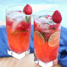 Strawberry Mojitos...one of my new summer drinks!