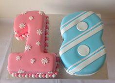twins 18th birthday cake - Google Search