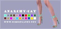 Anarchy-Cat: Madlen`s Nisida Shoes recolor • Sims 4 Downloads