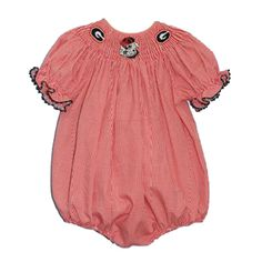 University of Georgia Girls Smocked Bubble from Smocked Auctions