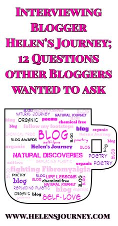 Read an interview to get to know the person behind Helen's Journey Blog better as she answers 12 questions other bloggers wanted to ask as they nominated her for #themysterybloggeraward #blogaward #blogger #bloggerinterview #helensjourney #gettoknowme #interviewquestions #interview #bloggerinterview #blog Mental Health Blogs, Driving Miss Daisy, Blog Online, Toxic Relationships, Get To Know Me, Educational Technology, Small Groups, I Am Awesome, The Creator