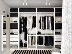 Dressing IKEA wardrobe Forum mode homme de Comme un camion Hanging Wardrobe, Ikea Pax Wardrobe, Ikea Closet, Wardrobe Design Bedroom, Master Bedroom Closet, Bedroom Wardrobe, Wardrobe Ideas, Wardrobe Planner, Pax Planner