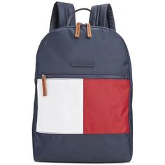 588918e9a1 Tommy Hilfiger Colorblock Flag Nylon Backpack ( 41) ❤ liked on Polyvore  featuring bags