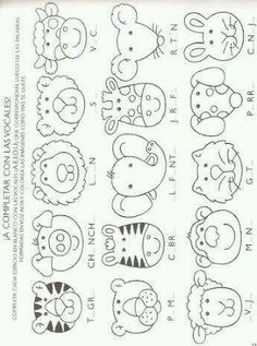 animal heads pattern Can be used for felt projects Quiet Book Patterns, Felt Patterns, Applique Patterns, Animal Heads, Animal Faces, Motifs D'appliques, Punch Art, Stuffed Animal Patterns, Felt Toys