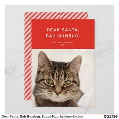Funny Holiday Photo created by PaperDahlia. Holiday Photo Cards, Holiday Photos, Christmas Humor, Christmas Gifts, Paper Dahlia, Red Background, Dear Santa, Baby Cards, Funny
