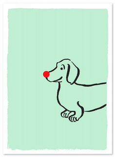 "Rudolph ""Mascot"" Dachshund Dog"
