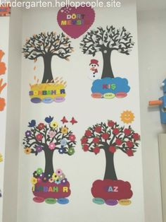 Preschool Season Charts (New) # preschool activity, # preschool art activities, # coloring pages, - - Diy And Crafts, Crafts For Kids, Arts And Crafts, Paper Crafts, Class Decoration, School Decorations, Classroom Posters, Classroom Decor, Preschool Art Activities