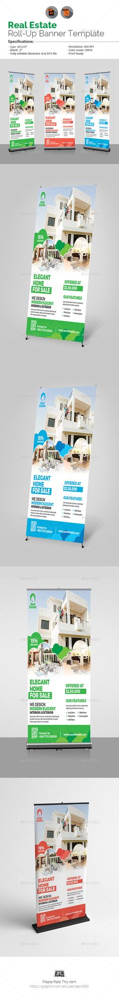 Real Estate Poster Template | Real estate, Ai illustrator and Print ...