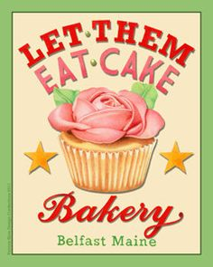 Poster print Let Them Eat Cake 8 x 10 by by #PatriciaSheaDesigns on #Etsy