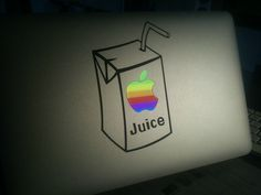 Stickers Apple Juice, MacBook de Nicolas. http://www.i-sticker.fr/stickers-et-autocollants-pour-macbook/8-sticker-apple-juice-pour-macbook-et-ipad.html