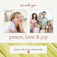Candycane Red Stripes Holiday Card