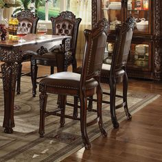 Acme Furniture Vendome Counter Height Dining Chairs - Set of 2 - 62034