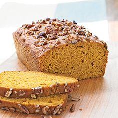 With a few low-fat baking tricks, our healthy pumpkin bread recipe shaved 33 percent of the calories and more than half the fat from the original recipe. Get the recipe.