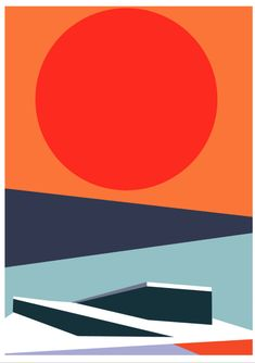 Thor, Oslo Opera House, Bold Colors, Random, Illustration, Artwork, Artist, Poster, Instagram