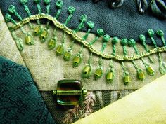 bead embroidery, crazy quilting - Textile Explorations: CQ Detail