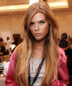 Tousled Brown and Blonde Based Red