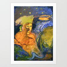 Crayon love: Taguari Art Print by Iris Lehnhardt - $18.00