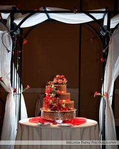 Beautiful brown autumn wedding cake - Melissa Papaj Photography