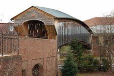 The Heritage Bridge. Old Salem, Winston-Salem, Forsyth County, North Carolina