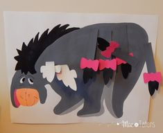 Pin The Tail on Eeyore is the perfect game to play for a boy or girl Winnie the Pooh Birthday Party.