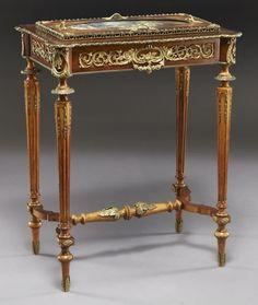 31: Louis XVI style ormolu mounted table/jardiniere, : Lot 31