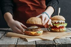 Get more plant proteins into your diet with these meatless burgers that satisfy. @LaurenPincusRD quoted Burger World, Meatless Burgers, Plant Based Burgers, Bbq Skewers, Impossible Burger, Vegetarian Thanksgiving, Meat Substitutes, Plant Based Protein, Vegan Recipes
