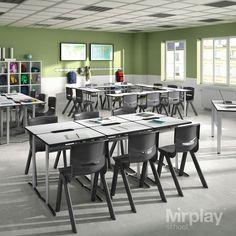 Kids Table And Chairs, Kid Table, Interior, Furniture, College, Classroom, Design, Home Decor, Montessori