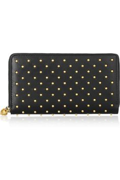 Alexander McQueen | Studded leather continental wallet | NET-A-PORTER.COM