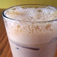 Iced coffee made easy with milk and instant coffee.