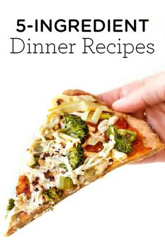 Here are 20 healthy 5-ingredient or less dinner recipes! This list has lots of vegetarian, vegan and gluten-free ideas including chili, veggie burgers, pasta dishes, stuffed peppers, soups and more! These simple recipes are made with pantry-staples and are so easy to make. Cherry Tomato Pasta Sauce, Roasted Cherry Tomatoes, Vegan Stuffed Peppers, Stuffed Pepper Soup, Vegan Mushroom Pasta, Bbq Pulled Pork Recipe, 5 Ingredient Dinners, Vegan Roast, Simple Recipes