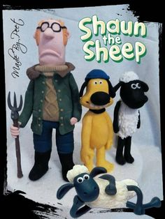 Shaun The Sheep and Friends Fondant Tutorial by Petra on CakesDecor