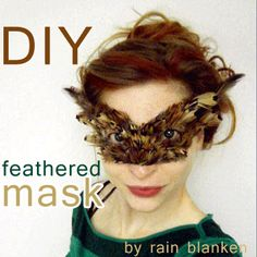 Create a feathered mask with this easy step-by-step tutorial. What kind of costume can you make with a feathered mask?